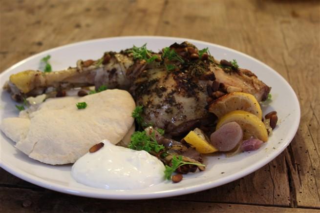 gebraden kip met sumak, za'atar en citroen