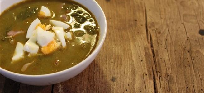 kikkererwtensoep met spinazie en chorizo