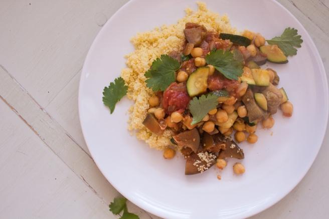 Stoofpotje met ras el hanout kip en diverse groenten