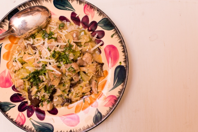 risotto van orzo met kip