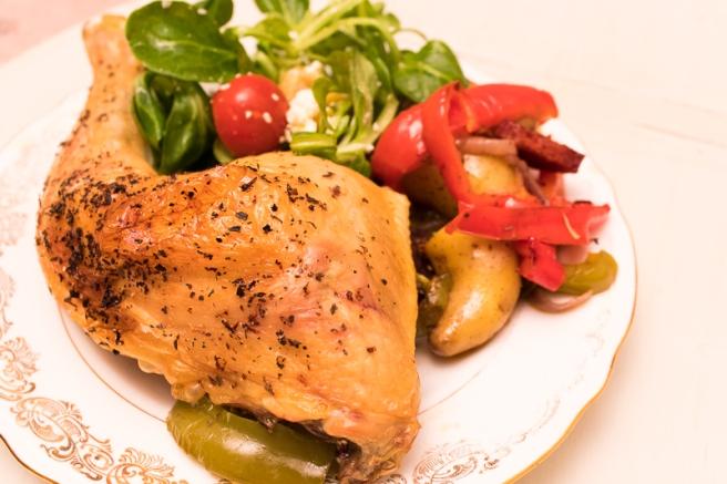 kip met paprika en chorizo